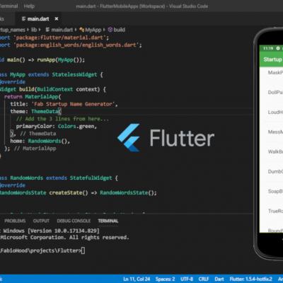 Mobile application development with flutter