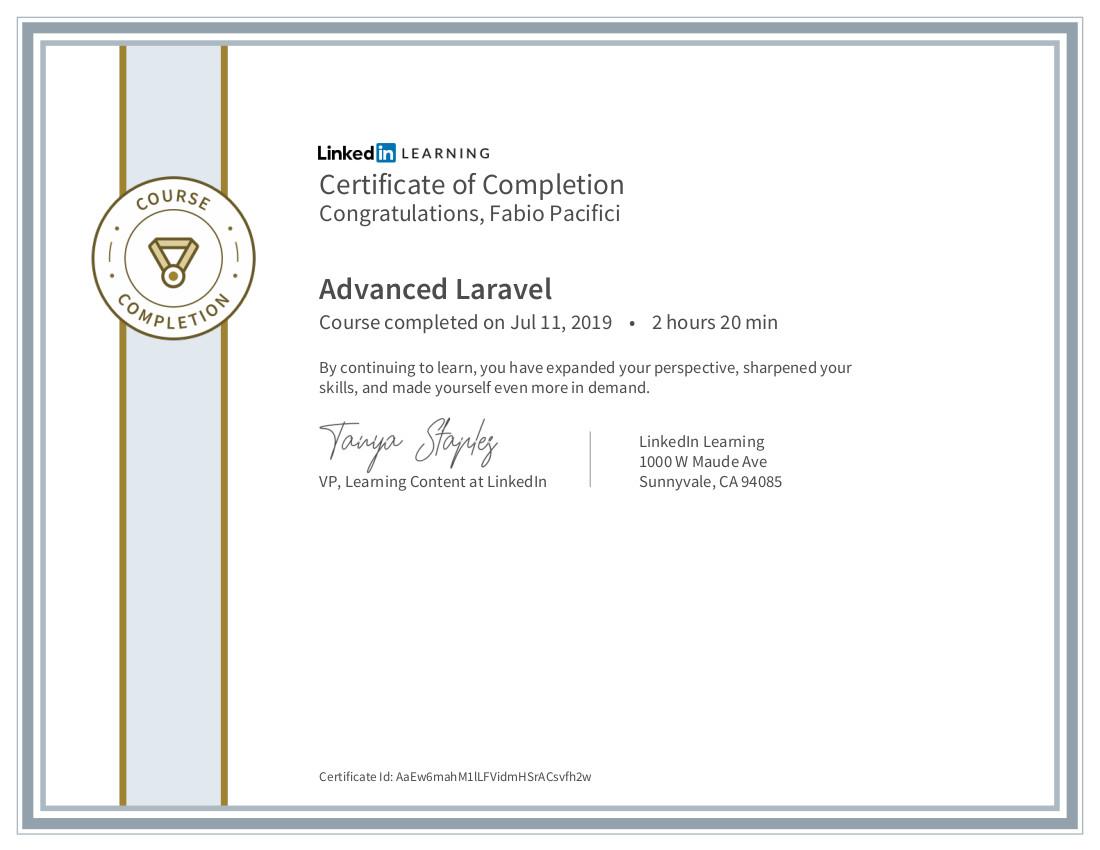 Advanced Laravel Certificate