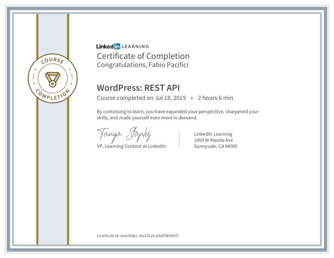 Wordpress RestAPI certificate
