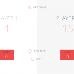 Dice game screen