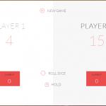 Dice game screen