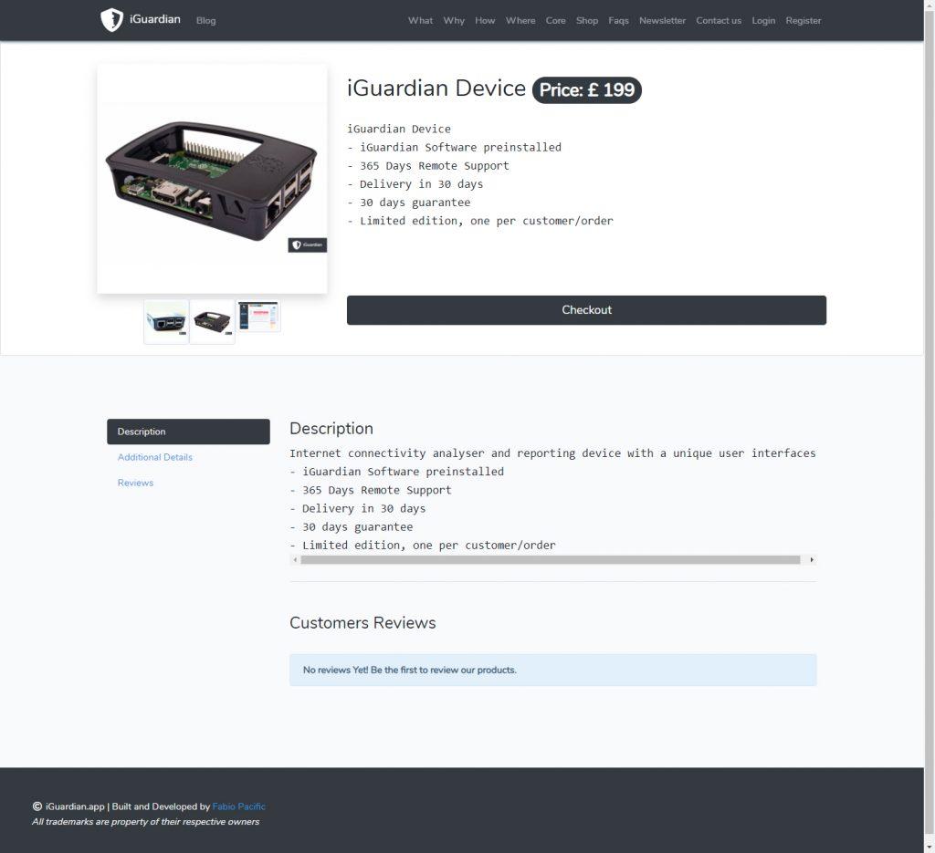 iGuardian e-Commerce product