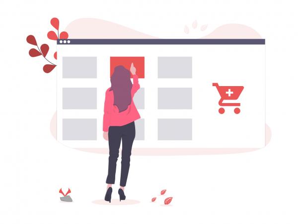 E-Commerce online shopping plan image