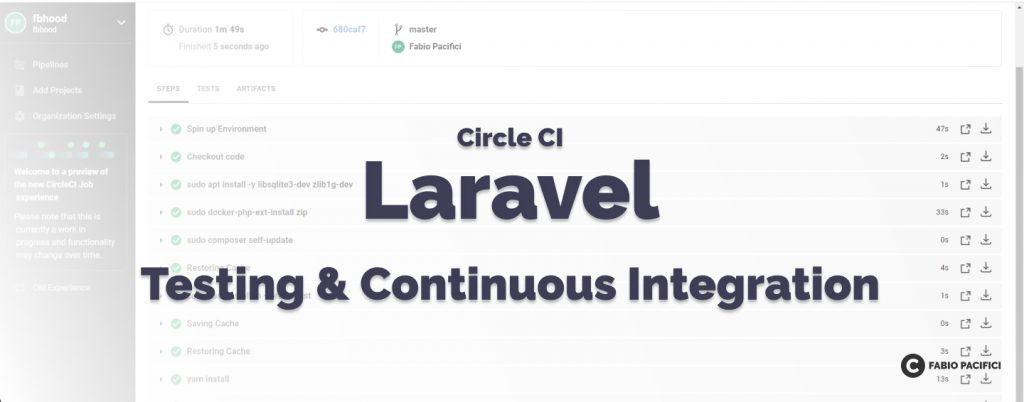 How to set up Continuous Integration with Laravel and CircleCi