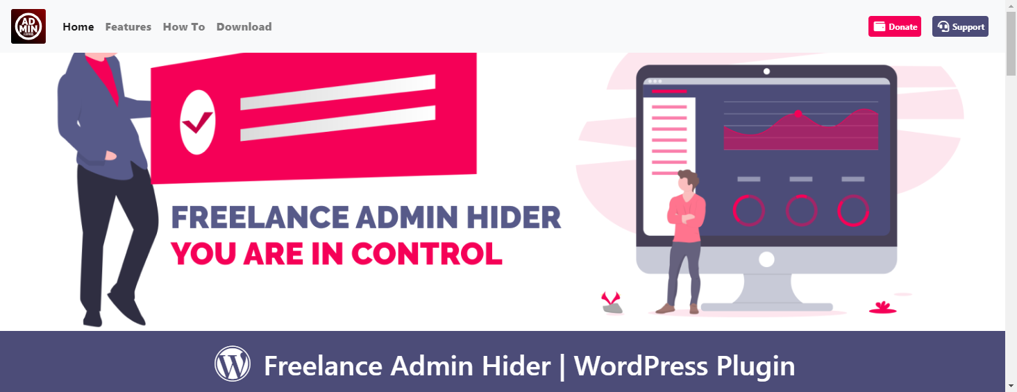 Freelance Admin Hider for WordPress image