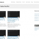 WordPress TV Tutorials Fabio Pacifici